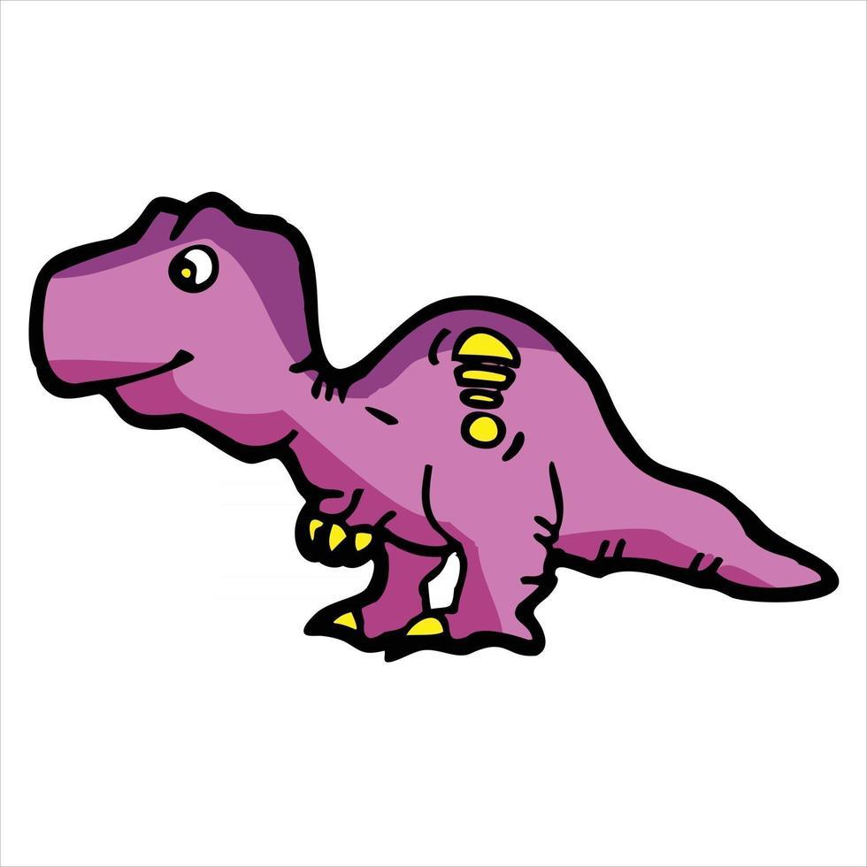 cute t-rex character cartoon illustration vector