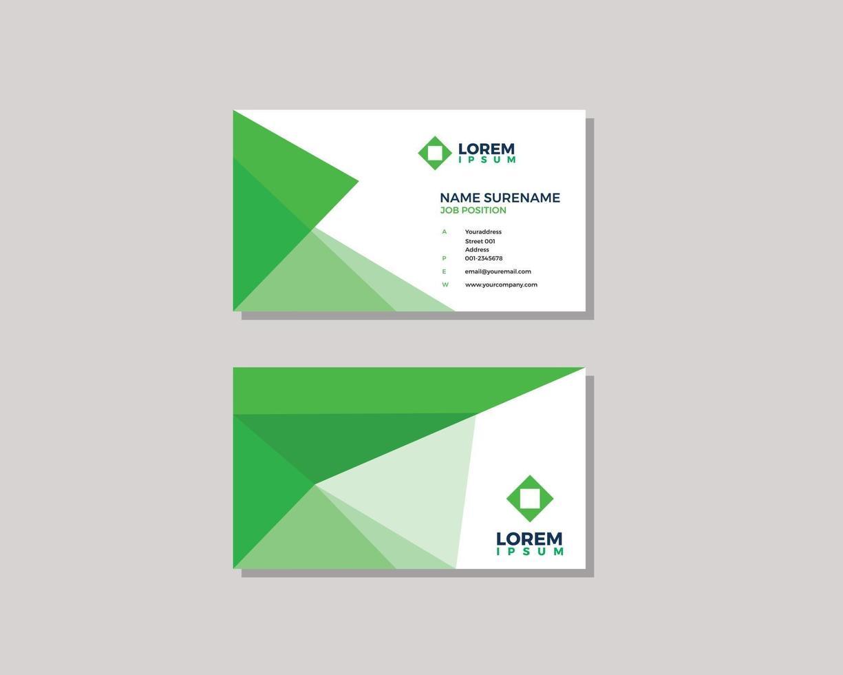 modern geometric businesscard design template vector
