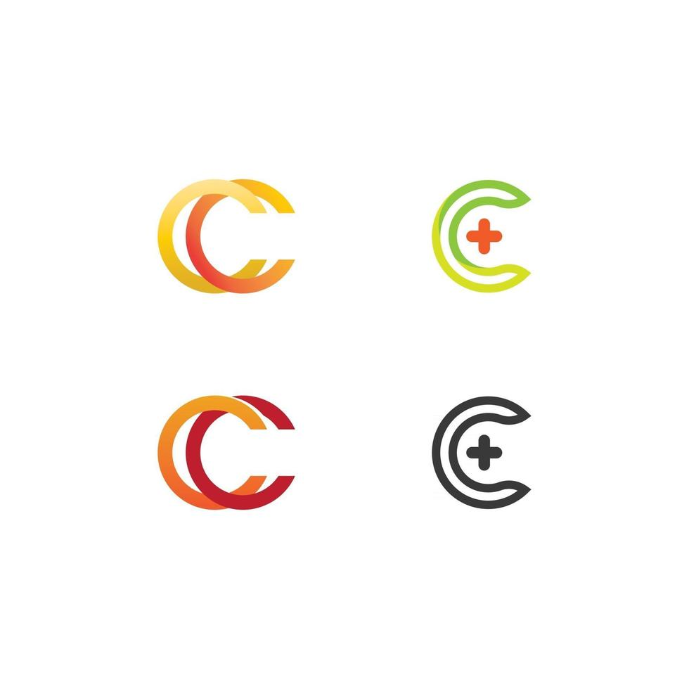 C logo and Vitamin and font C letter Identity and design business vector
