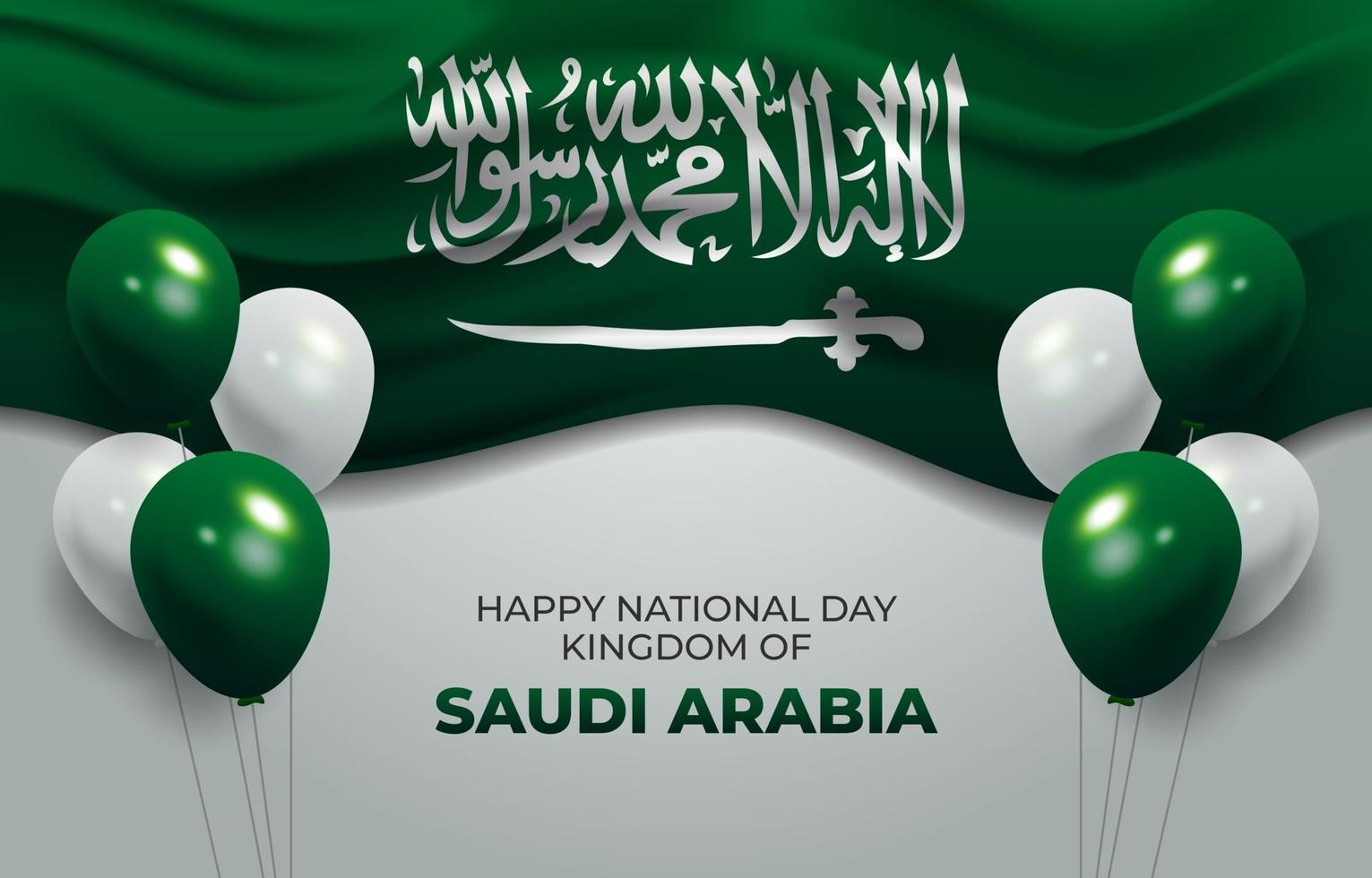 Happy National Saudi Arabia Background vector