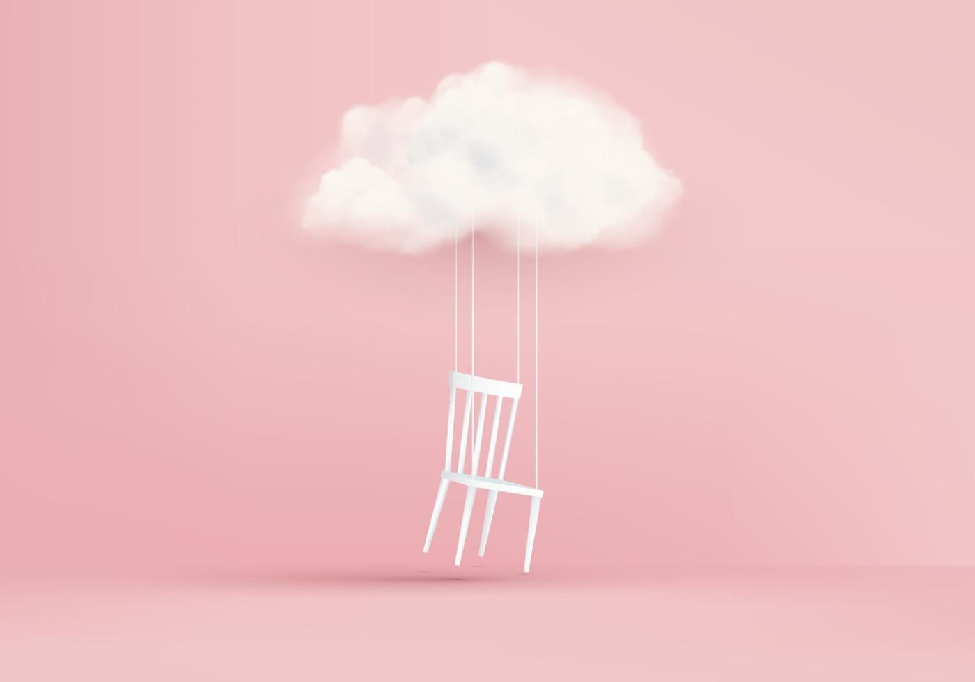 Business idea concept of 3D render in one direction clouds background vector