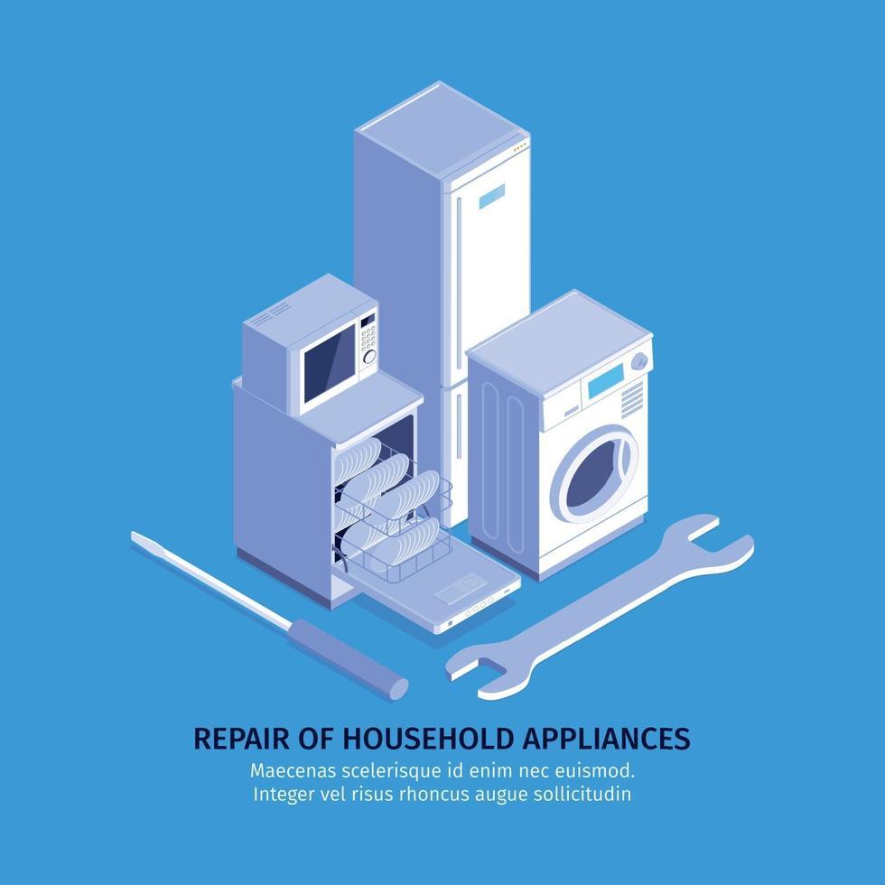 Consumer Electronics Repair Background Vector Illustration