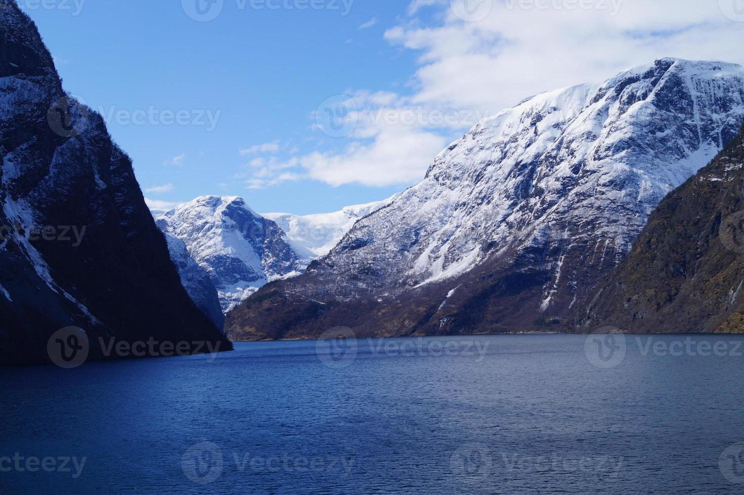 With a Cruise ship through the Ardalsfjord photo