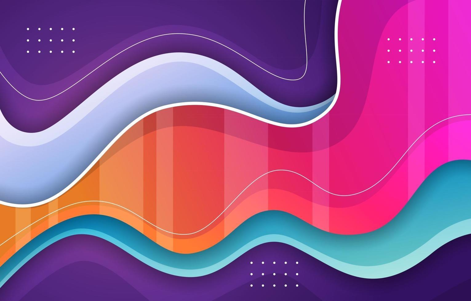 Colorful Abstract Liquid Background vector