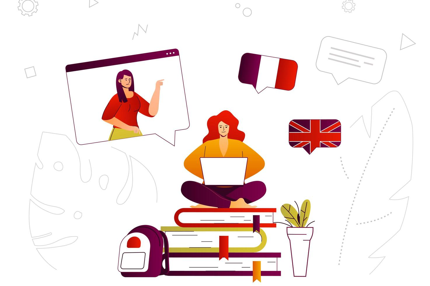 Online learning web concept vector