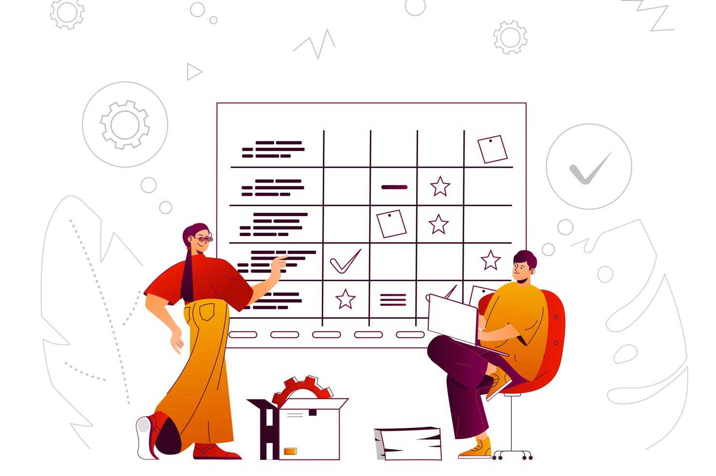 Business planning web concept vector