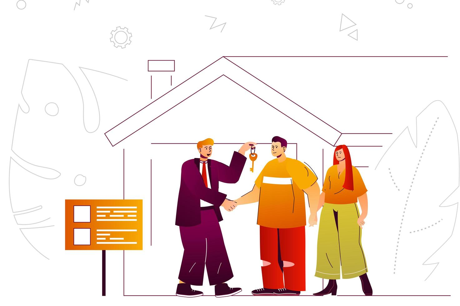 Real estate web concept vector