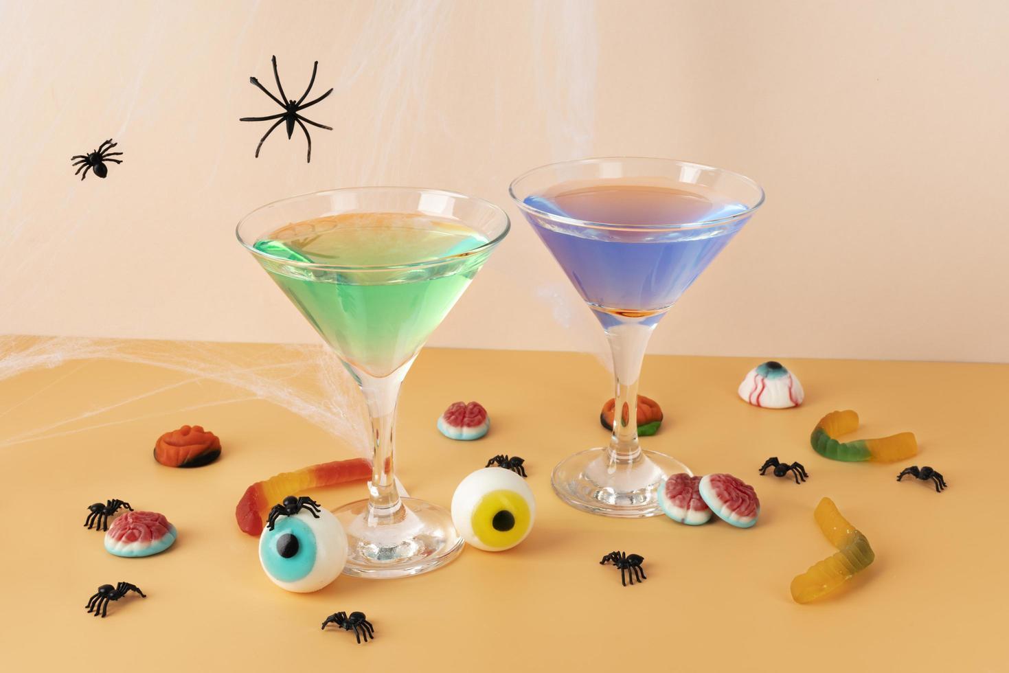 el surtido creativo de elementos de halloween foto