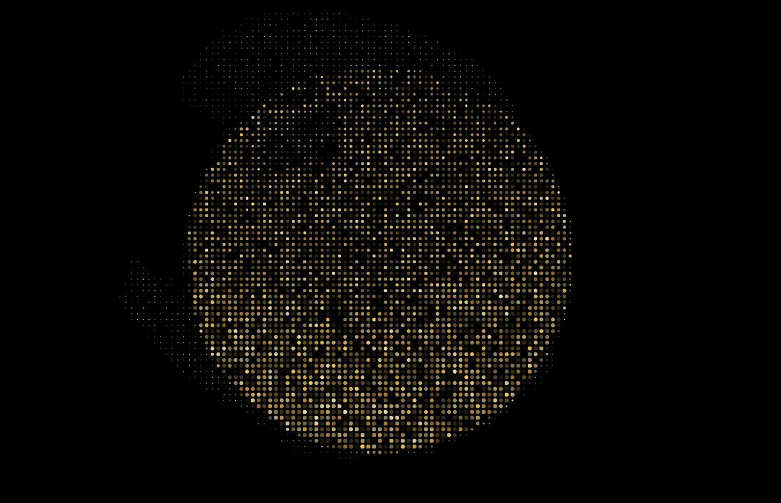Gold Glitter Halftone Dotted Backdrop Vector Pattern