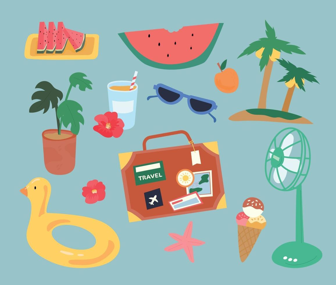 Hot summer object vector