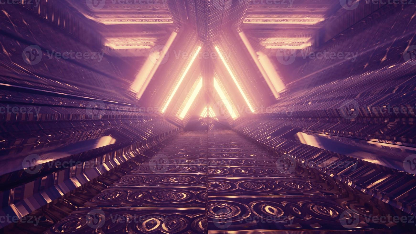 Golden triangle tunnel 4K UHD 3d illustration photo
