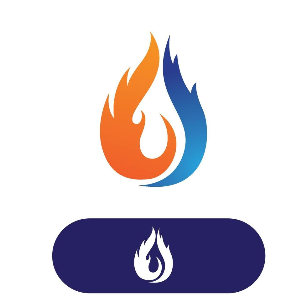 Energy nature water Fire flame logo vector illustration