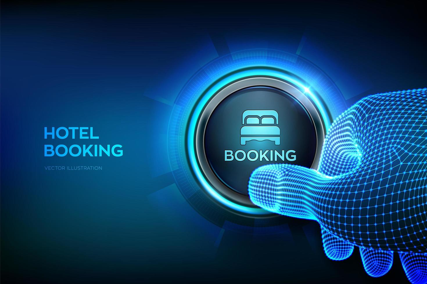 Hotel booking. Online Reservation. Mobile application for renting vector