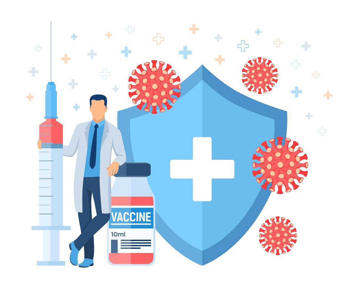 Vaccination concept. Immunization campaign. vector