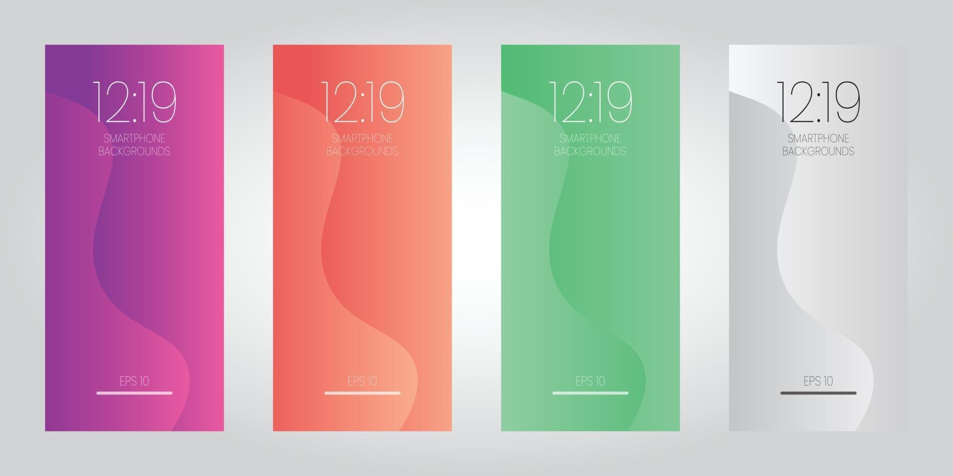 Abstract style wave wallpaper for smartphone mobile device vector