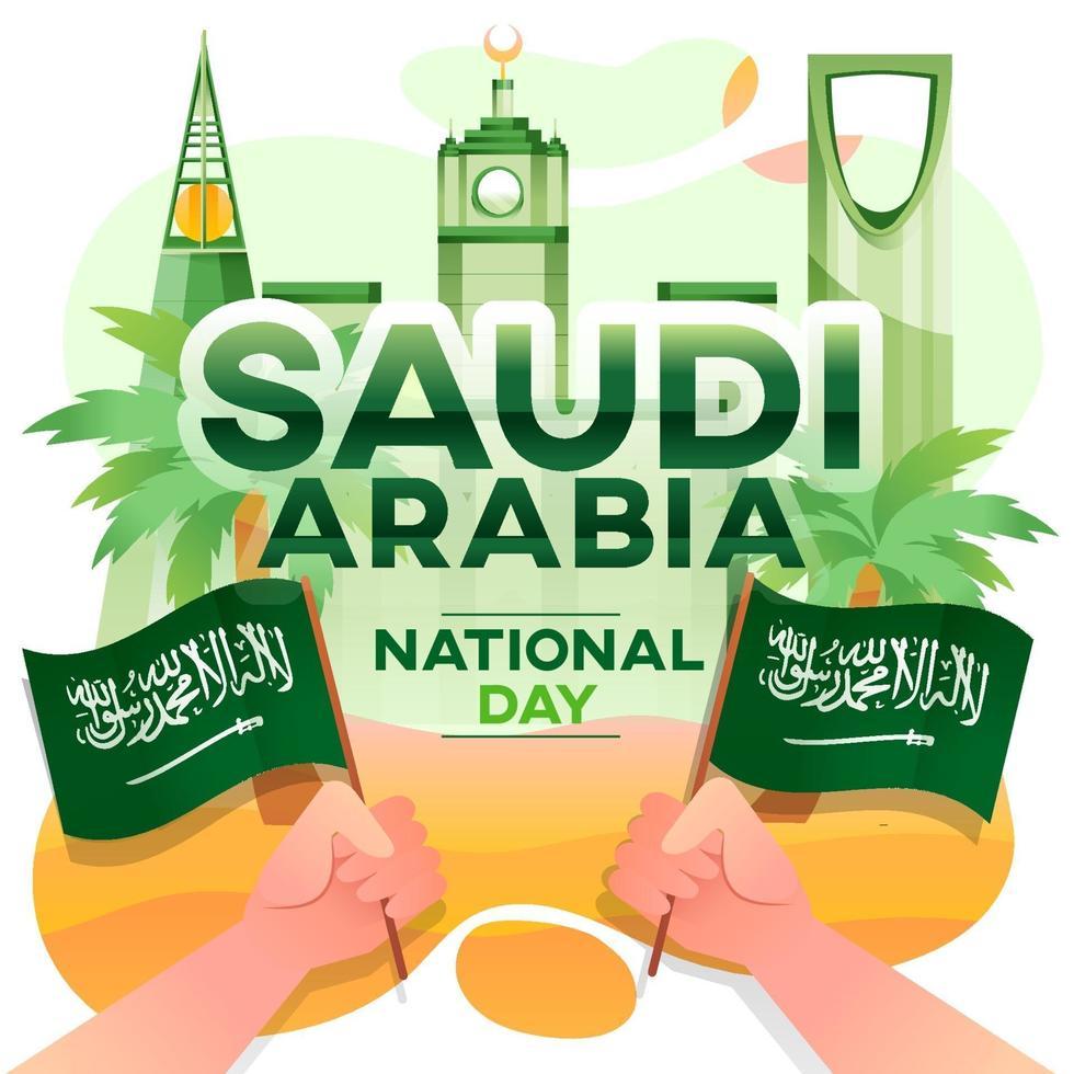 Saudi Arabia National Day Greeting Card vector