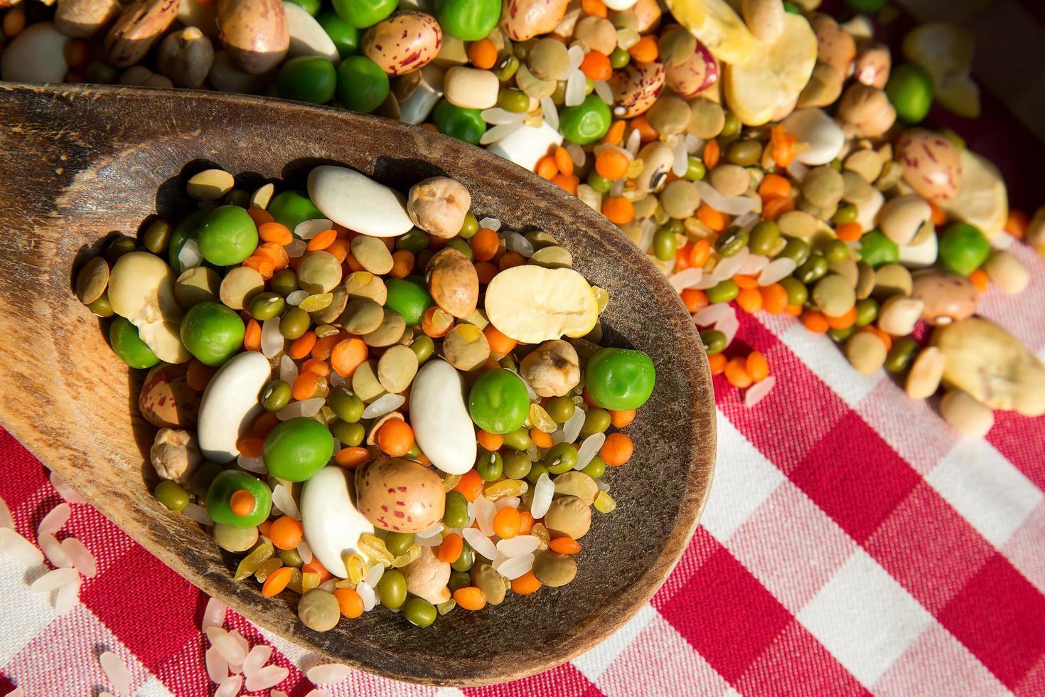 Healthy Vegetarian Raw Food Legumes photo