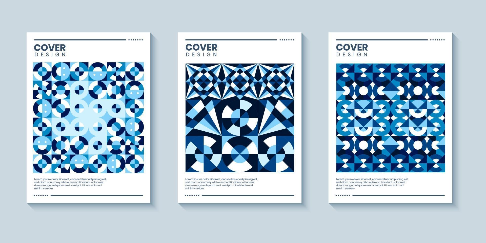 Geometric pop art style cover background for book cover or poster vector
