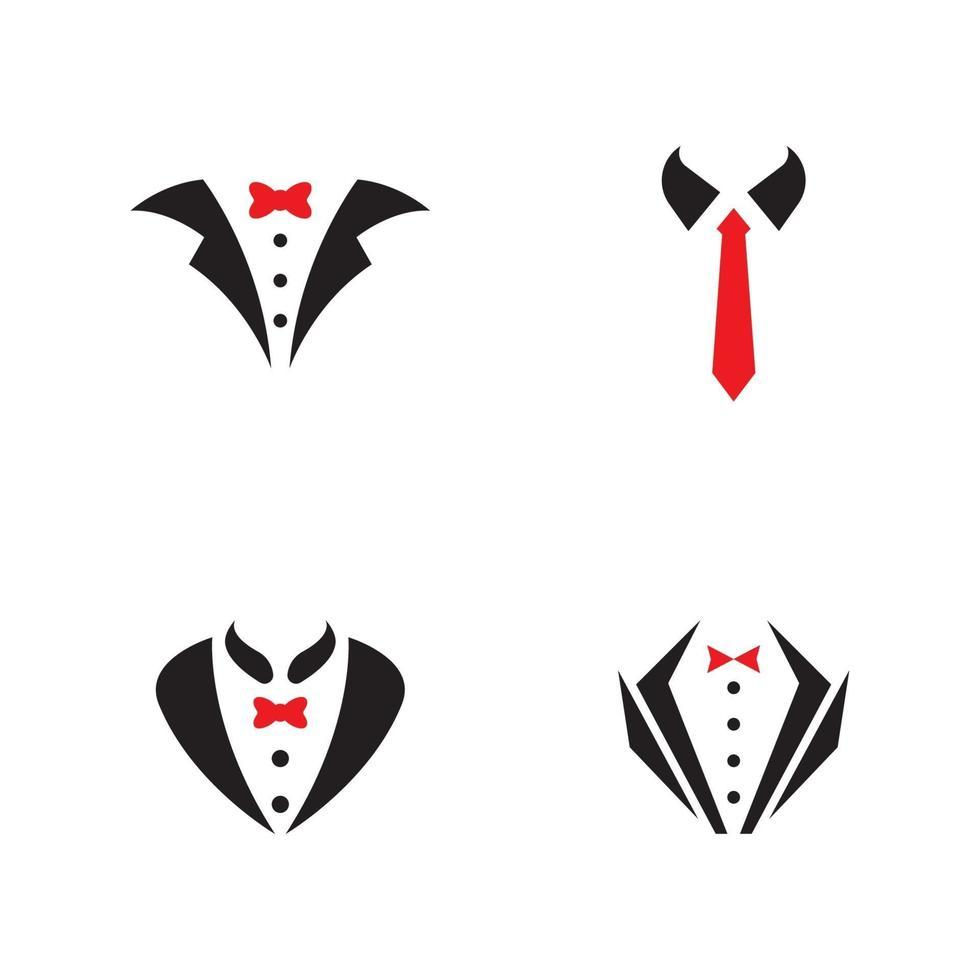 Tuxedo man logo and symbols template vector
