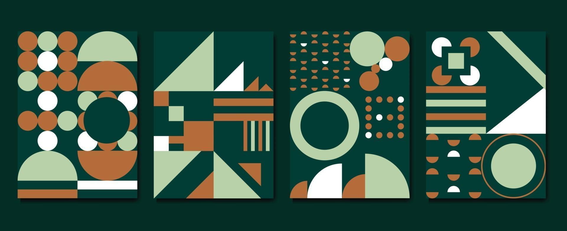 Modern cover vector template with watercolor and Geometric shape.