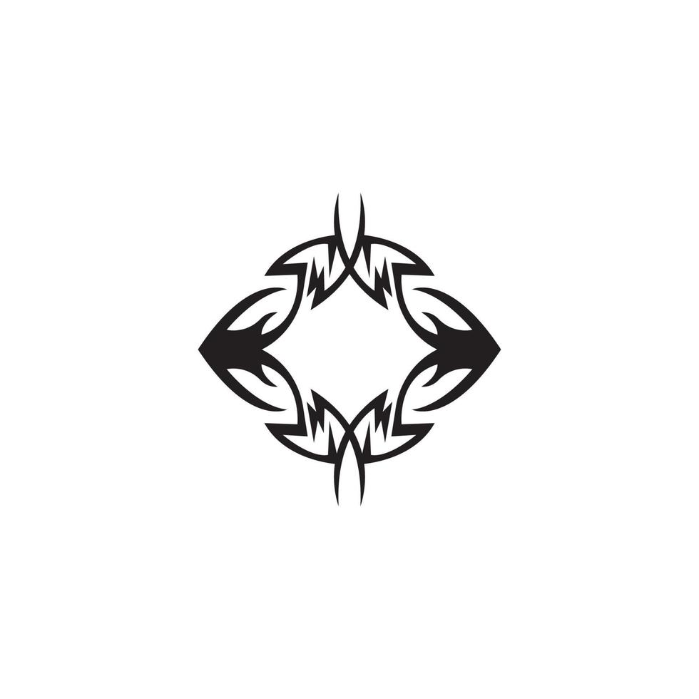 Tribal tattoo sing and symbol vector