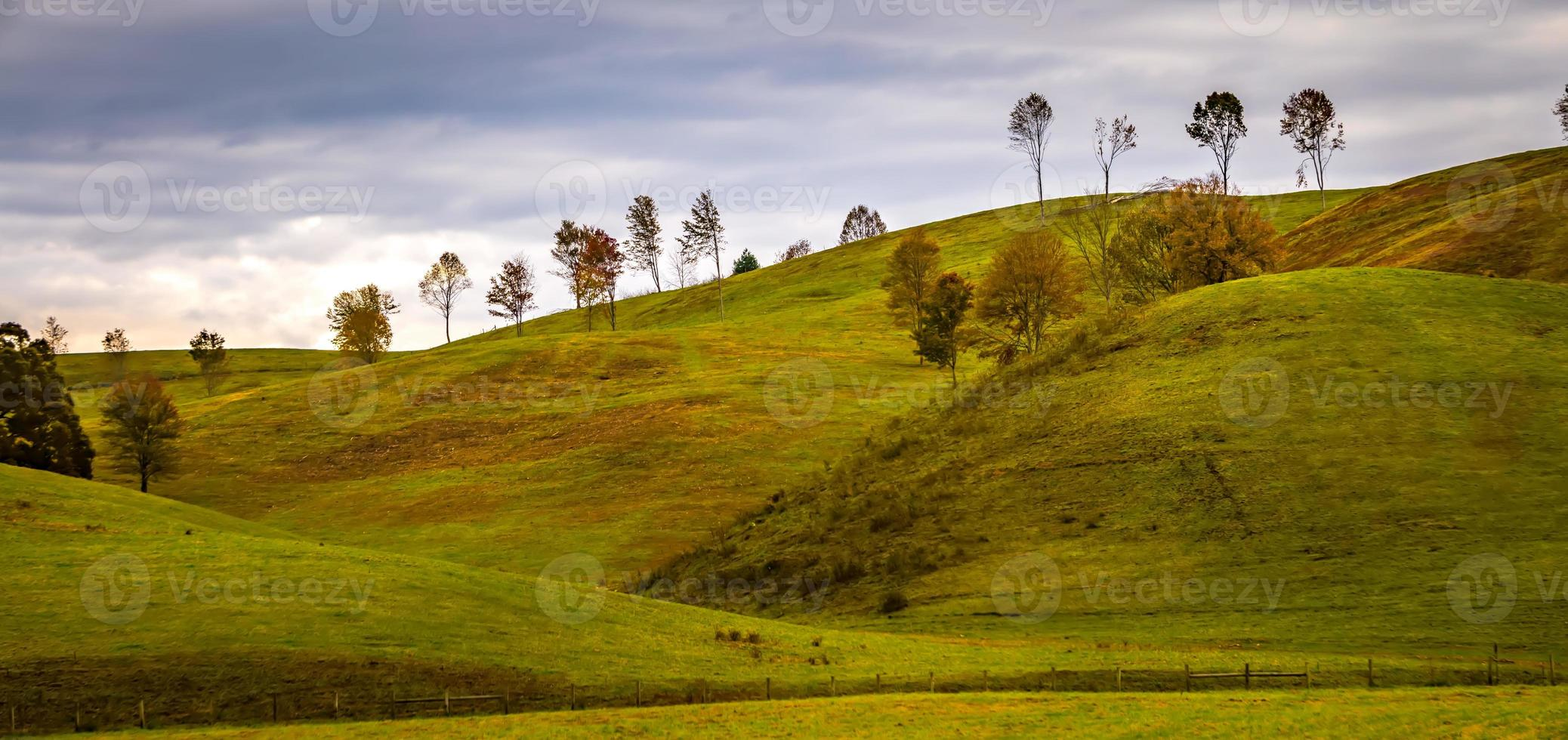 picturesque autumn landscape in west virginia photo
