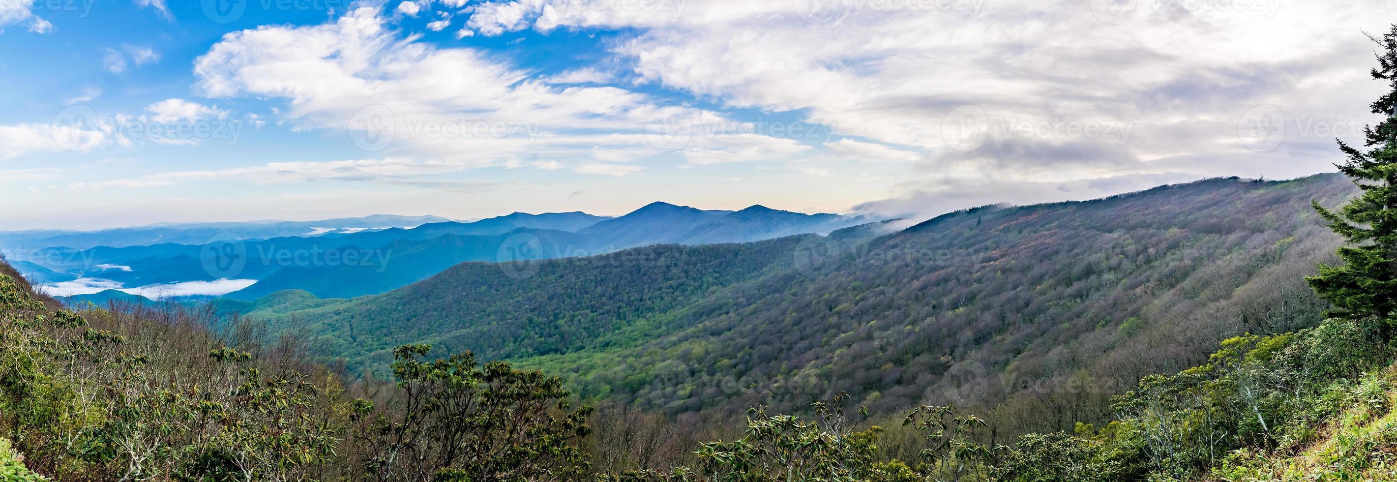 blue ridge mountains near mount mitchell and cragy gardens photo