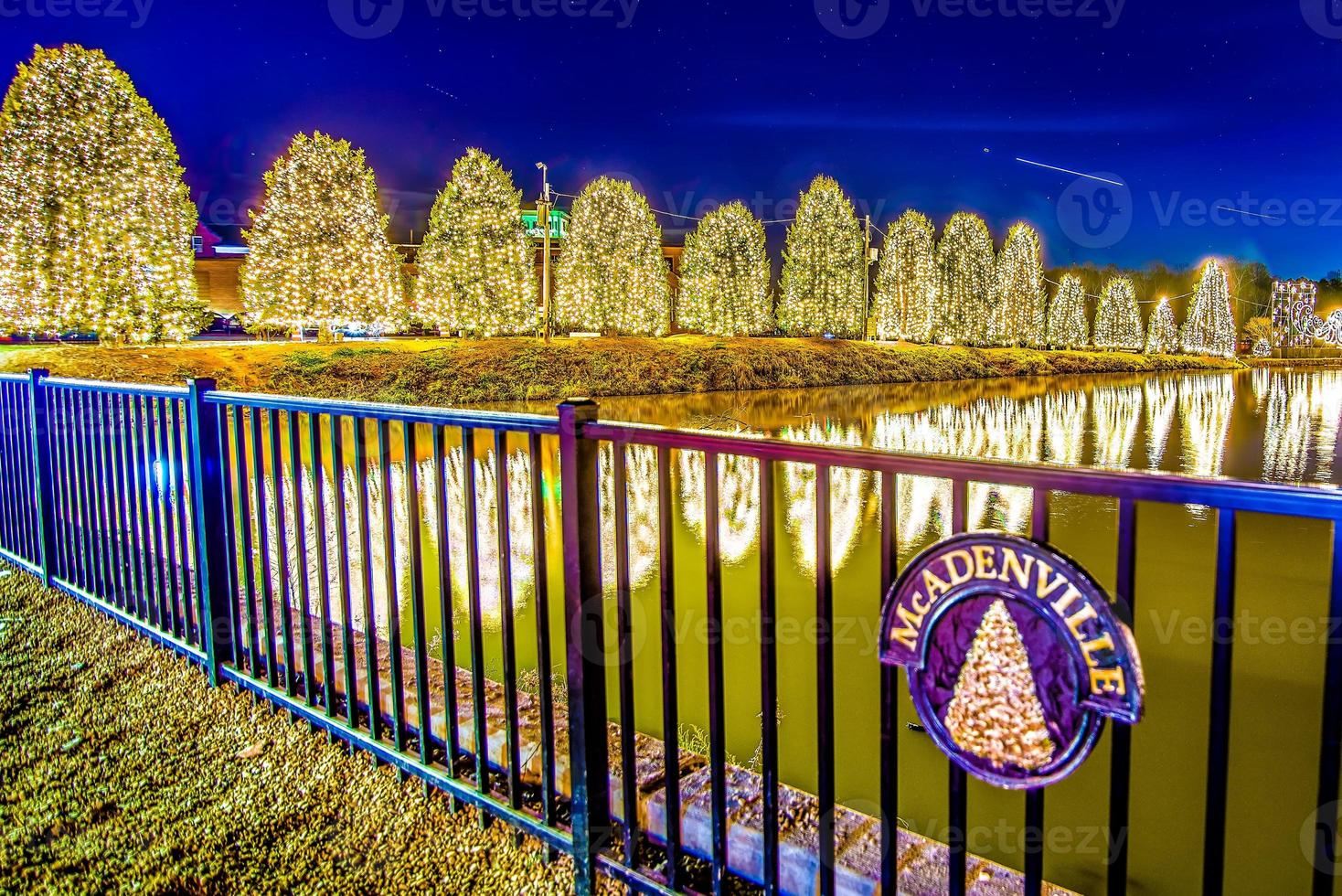Outdoor christmas decorations at christmas town usa photo