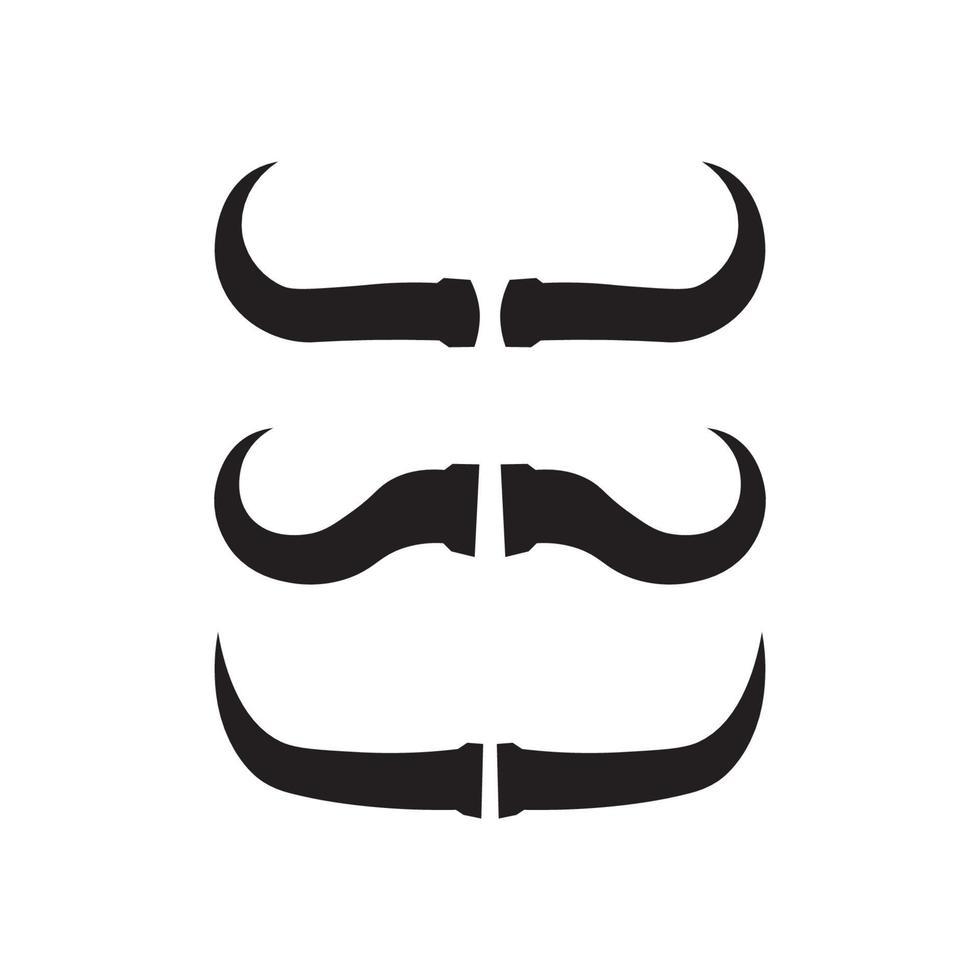 Bull buffalo head cow animal logo design vector horn buffalo