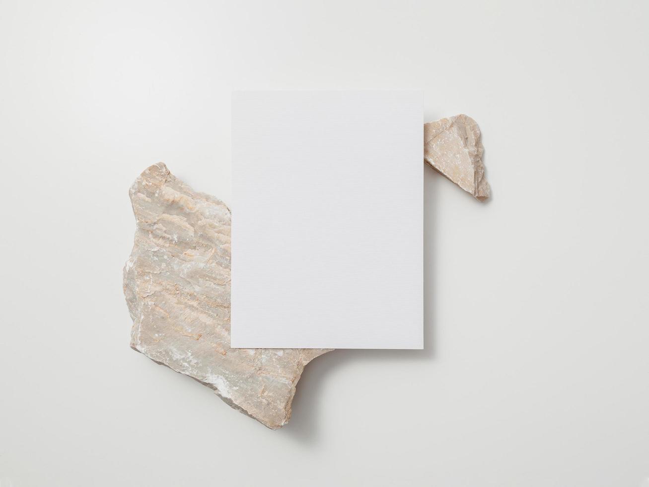 maqueta de tarjeta de invitación, plantilla de tarjeta de felicitación en blanco. endecha plana foto