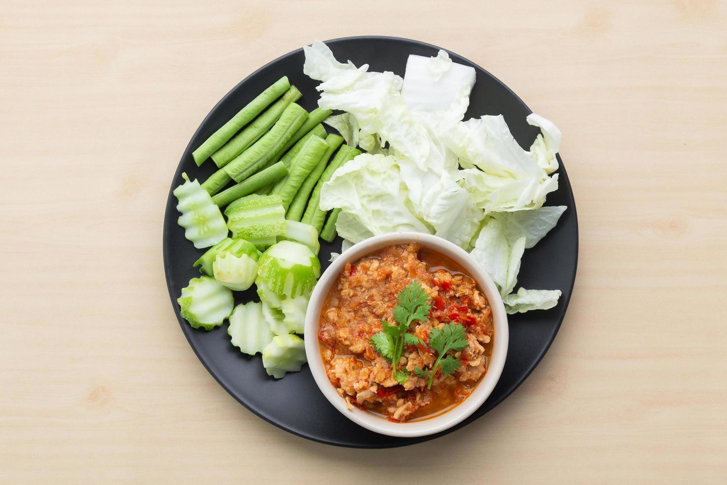 Chili sauce, famous food in Thailand photo