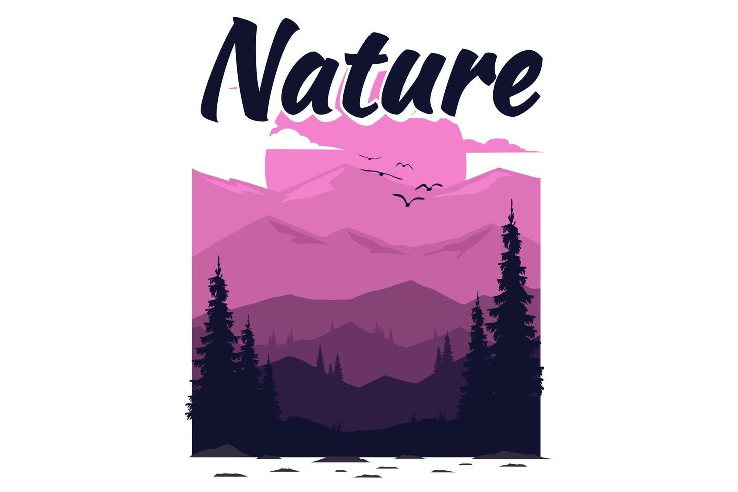 T-shirt explore nature mountain vector