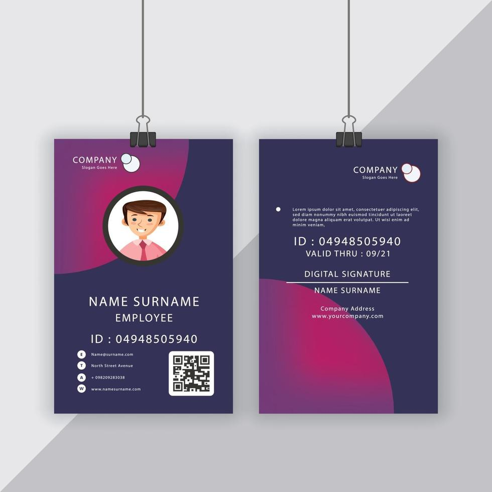 Commercial Usable ID Card Template vector