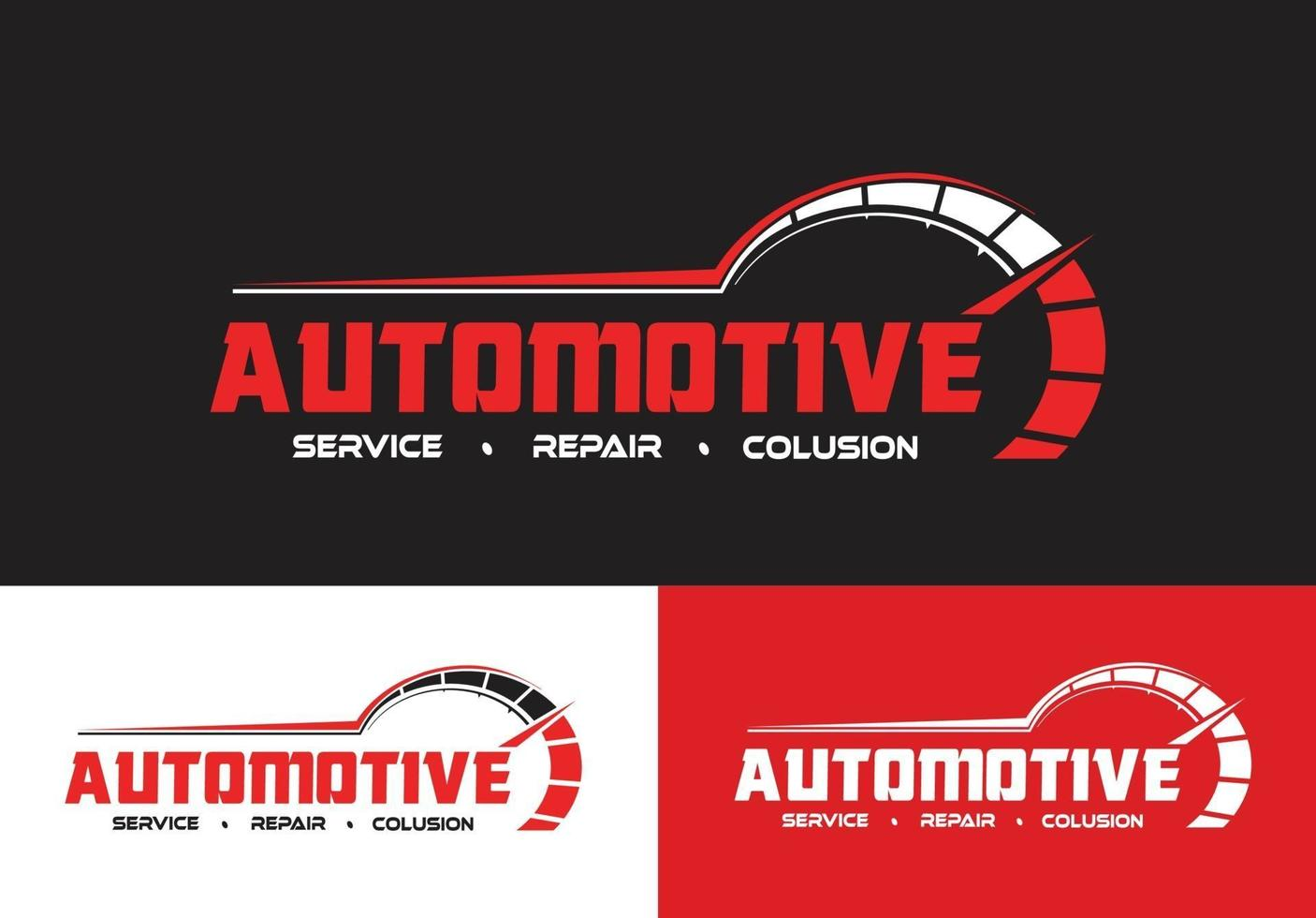 automotive repair and service logo concept vector
