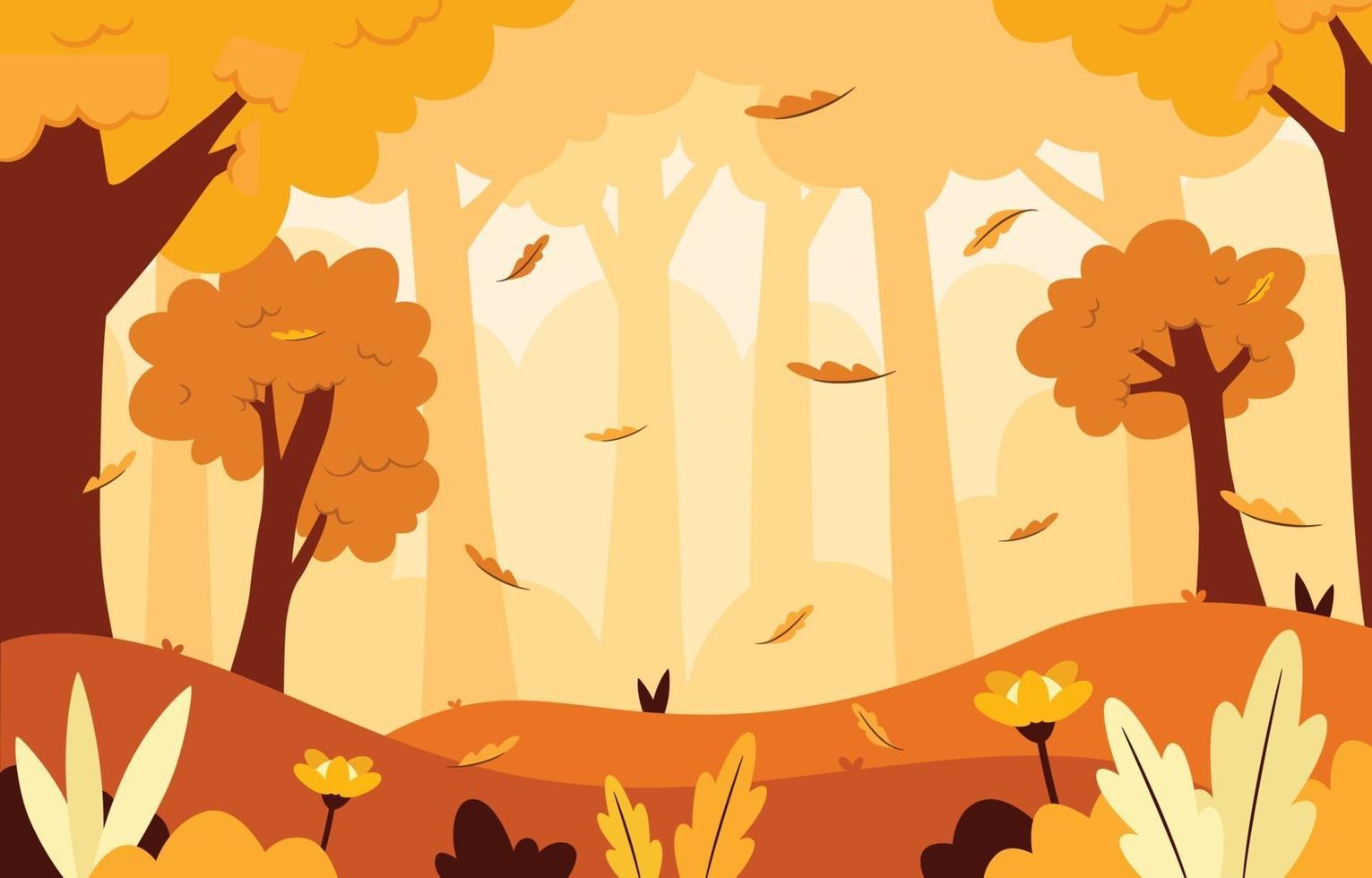 Autumn Landscape Scenery Background vector