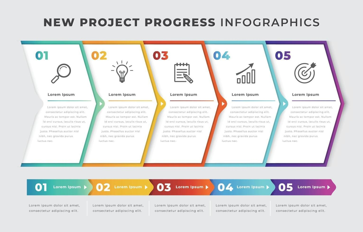 New Project Infographic Template vector