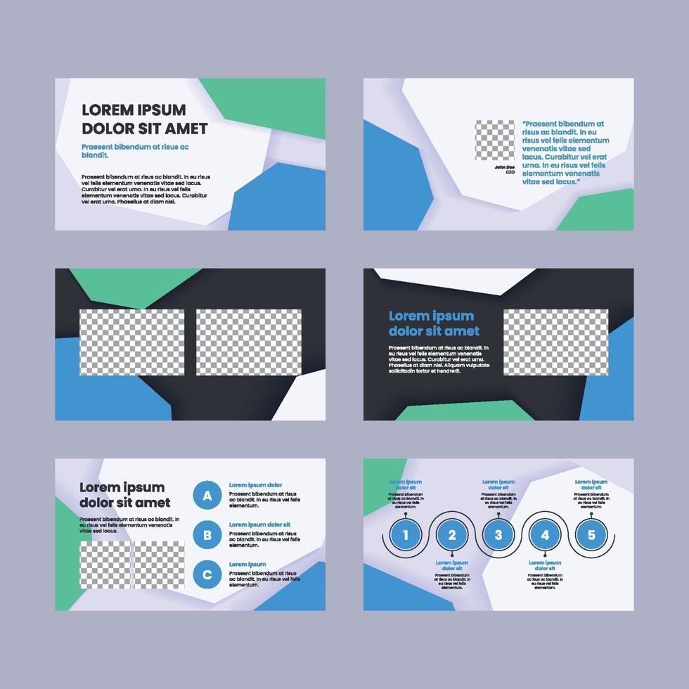 Flat Minimal Modern Presentation Slides vector
