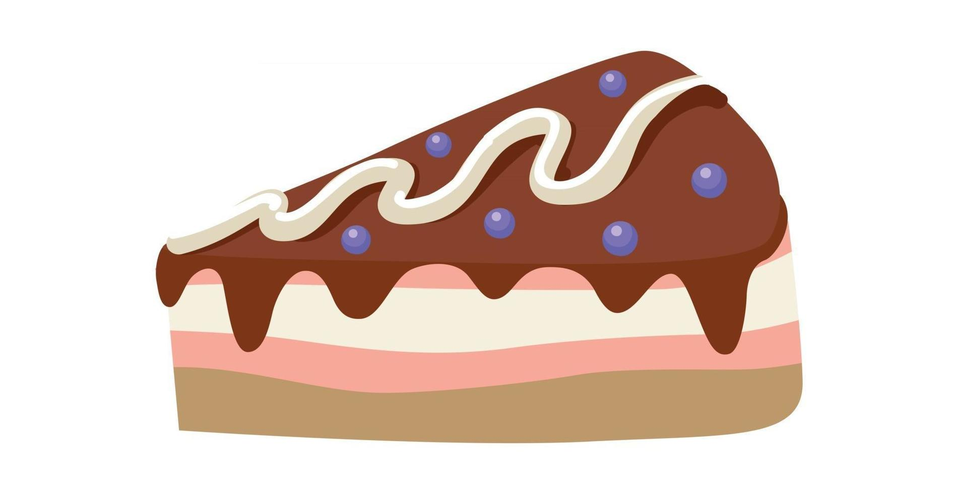 Realistic cake pastry on white background - Vector