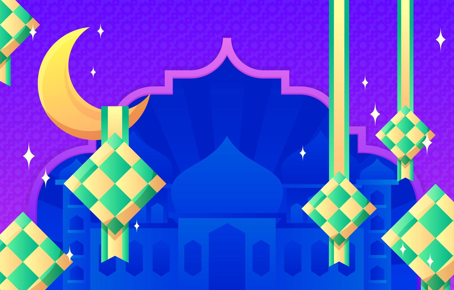 Islamic Template Background vector