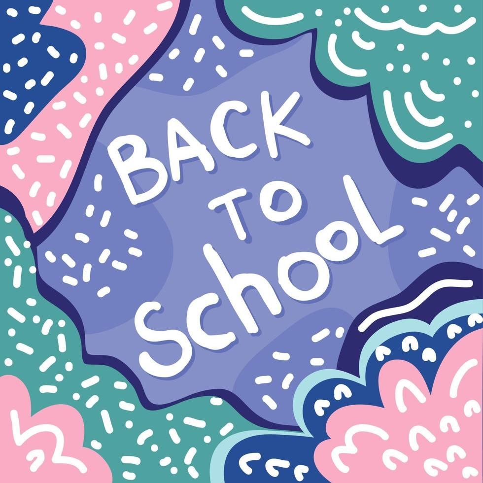 Back to school. Childish art for design school party advertising vector
