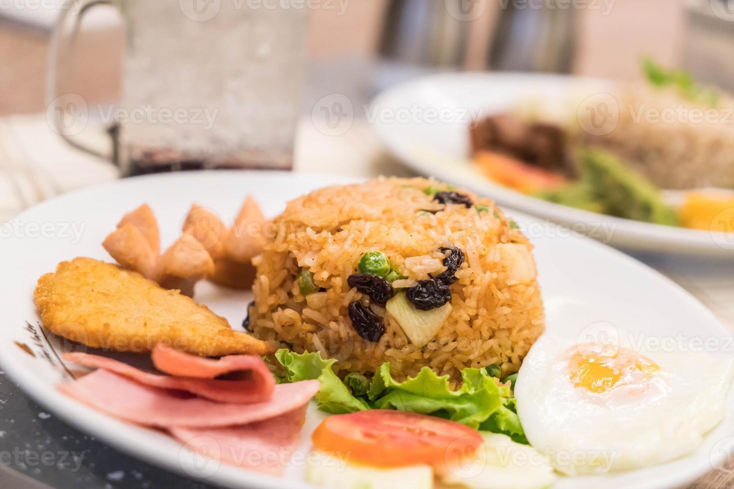 arroz frito americano foto