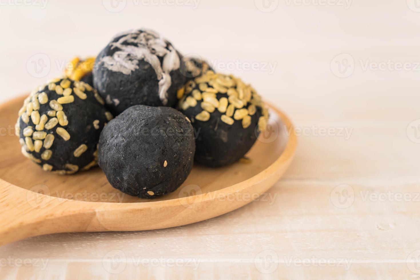 Charcoal potato ball photo