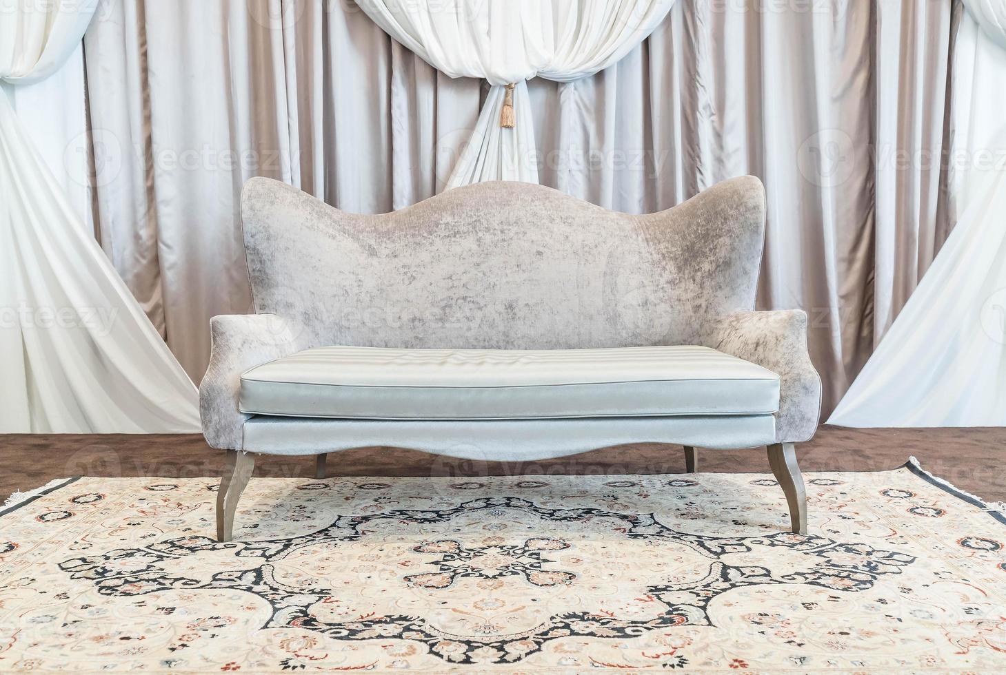 Empty beautiful and luxury sofa photo