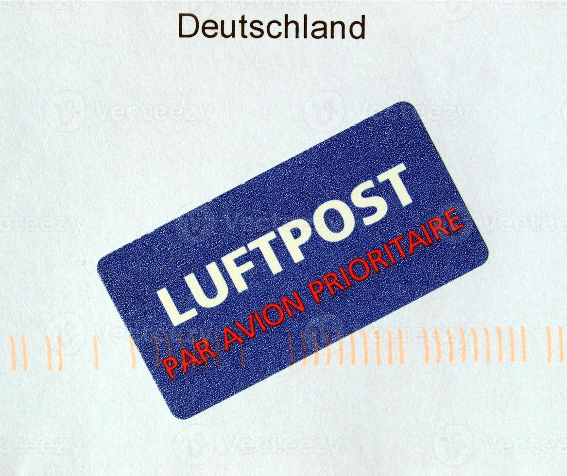 Airmail letter envelope photo
