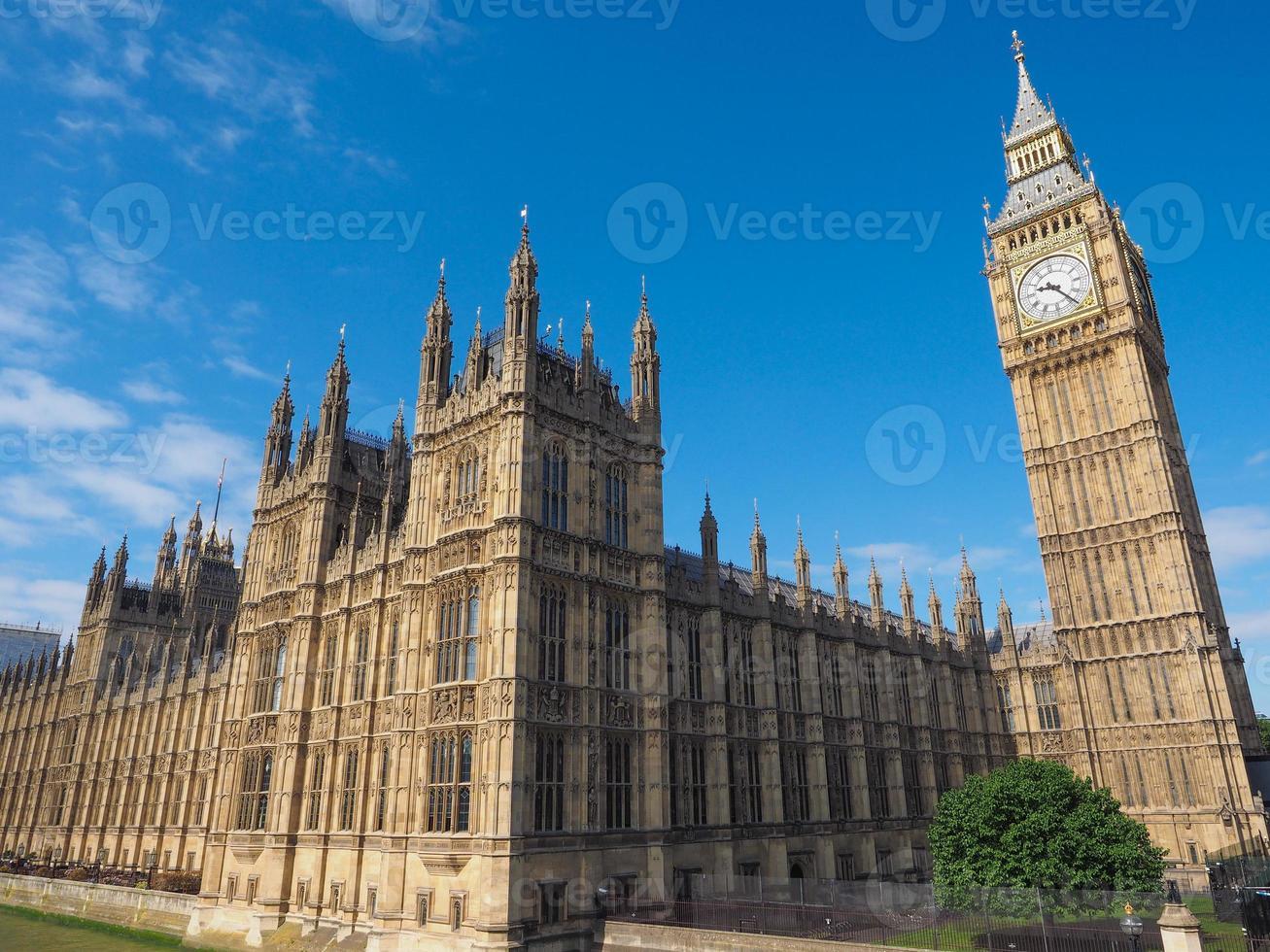 casas del parlamento en londres foto