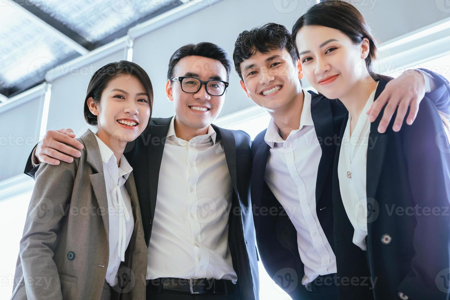 Group portrait of Asian business people photo