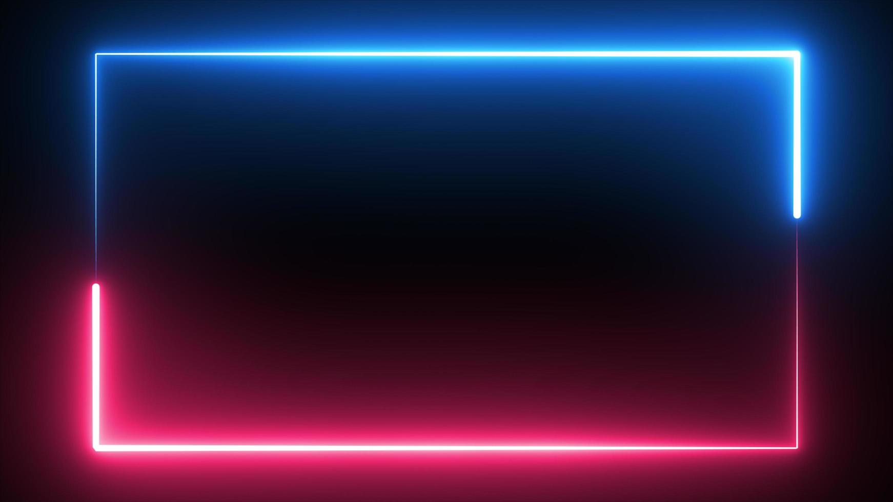 Saber neon glow color flowing rectangle background photo