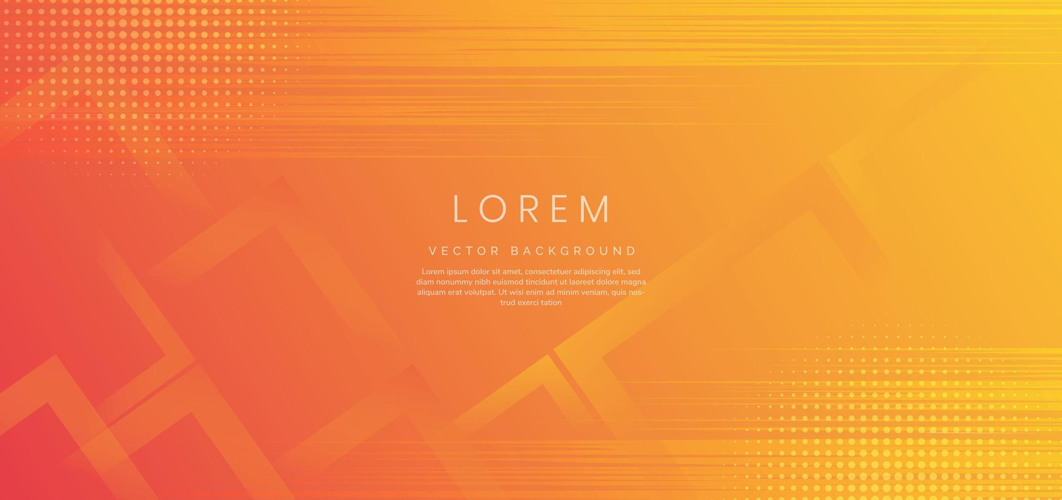 Abstract banner web template design background yellowy and orange. vector