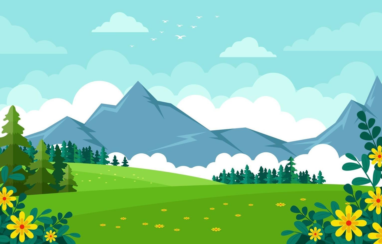 Beautiful Nature Landscape Background vector