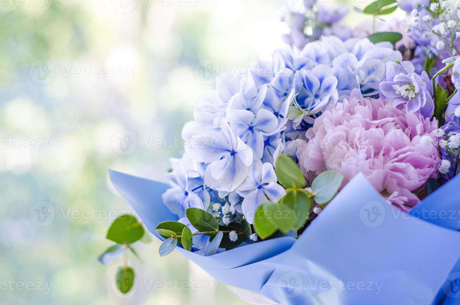 ramo de flores de cerca foto